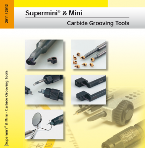 Supermini and Mini Carbide Grooving Tools PHHorn Catalog Image